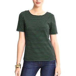 Banana Republic striped ponte tee